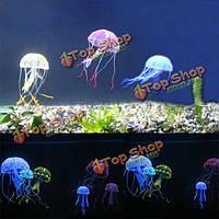 8.5см искусственные силиконовые яркие медузы для аквариума украшение