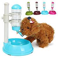 Automatic Pet вода питающего резервуара кошка корм для собак бутылка воды питатель дозатор напитка блюдо путешествия