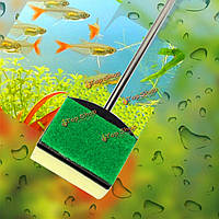 Аквариум стекло щетка аквариума инструмент для очистки нержавеющей стали ручки чистые морские водоросли принадлежности аквариума