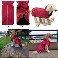 Водонепроницаемые зимние собаки любимчика щенка подкладка светоотражающий Кант куртки пальто