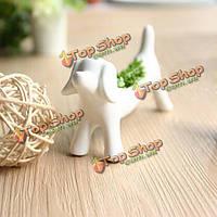 Мини керамические собаки аэробных горшечные растения домашнего офиса бонзаев