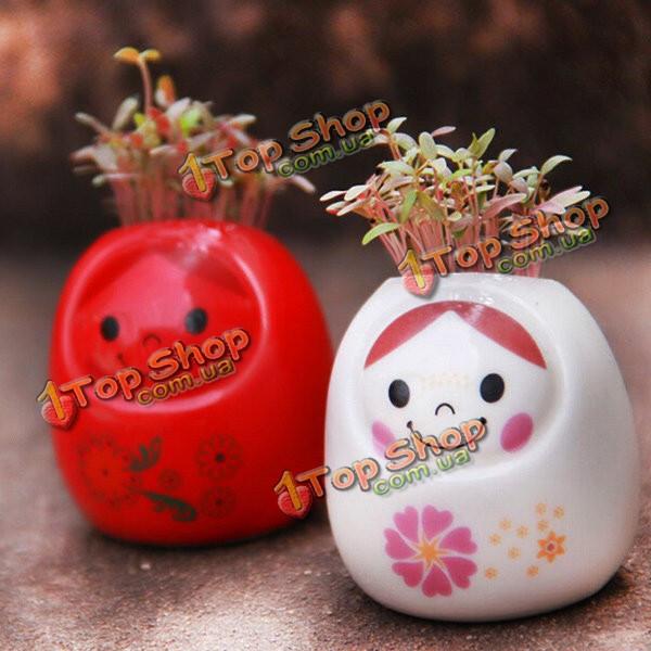 Поделки керамическая мини-кукла зеленая трава в горшке столе офисного декора - ➊TopShop ➠ Товары из Китая с бесплатной доставкой в Украину! в Киеве