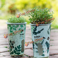 DIY Mini керамический углерода Болл авто водопоглощение трава растение в горшке столе офисного декора