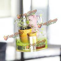 DIY Mini керамический животное Чак комнатные растения настольного офисного декора