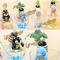 DIY Mini керамический море друзей трава растение в горшке обои декор