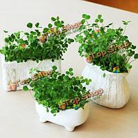 DIY Mini креативный керамический трава растение в горшке столе офисного декора