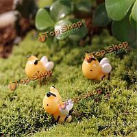 Поделки миниатюрная симпатичная пчела украшения горшечных растений садовый декор