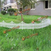 33см пластик белый штекер в забор украшение сада забор
