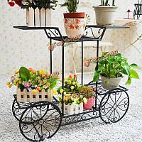 Творческий Multifuction форма велосипеда железа посадки цветочный горшок стойку стене коридора Conner полка