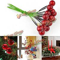 10шт искусственные красные плоды вишни ягоды Холли рождественские украшения