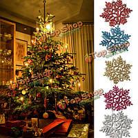 6шт смешанные украшение снежинки елочные украшения домашней вечеринки