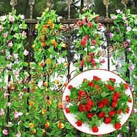 2м искусственный цветок роза лист винограда плюща гирлянду