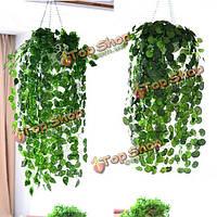 3.7 футов искусственного плюща листьев венок растений