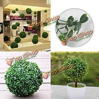 Пластичный искусственный топиарий елка украшения мяч растений