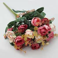 Искусственный букет роз партии украшение дома украшение сада