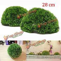28см пластик искусственное хвойное подстриженными трава мяч свадьбы садоводство висит украшения
