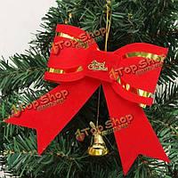 Рождество на верхушке дерева украшение Рождественский колокольчик с бантом орнамент