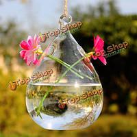 Haning капли воды в форме стеклянной вазе двойные отверстия бутылка домашнего сада украшения свадебного банкета