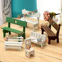 Мини смолы скамейке микро-ландшафтных украшений сада поделки декор