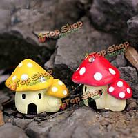 Микро-ландшафтных украшений смолы грибной дом сад поделки декор