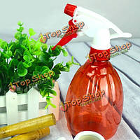 Красный пластиковый садовый лейки давление распылитель завод лейка