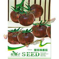 20шт Фиолетовый Перл помидор семян высокого сахара балкон во двор семян