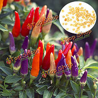 50шт сад декоративных горячий перец органических семян перец чили семена