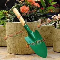 Мини деревянная ручка железа лопатой садоводство цветок инструментом посадки шпатель