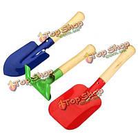 3шт с деревянной ручкой утюг садовые инструменты посадка инструменты
