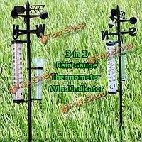 Сад термометр Датчик дождя указатель ветра открытый atmospherium