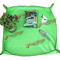 35x35-дюймов ПЭ покрытие вазон брезент садоводства трансплантат обрезку земля коврик
