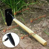 Деревянная ручка сталь маленький треугольник мотыга садоводство инструмент