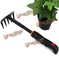 Черная резиновая ручка садоводство грабли садовые инструменты ручной работы