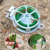 49ft мультифункциональный пвх твист вязальной проволоки для сада вьющегося растения с резаком из нержавеющей стали