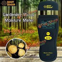 Смарт-тестер влажности цифровой измеритель влажности древесины садоводства древесины строительный материал 2 контактный