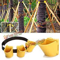 Защита бурелом садоводство TPR плодовое дерево крепление поддержка завода инструмент связывания комплект держателя