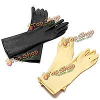 Длинные резиновые из латекса анти-кислоты щелочи разрушают перчатки химически стойкие перчатки