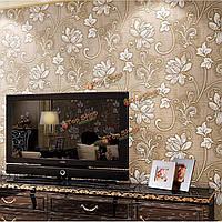 10м 3 фута цветочный 3D нетканый обоев с тиснением текстурированные стекались декор стен дома