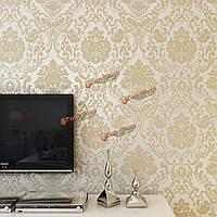 10м рулон обоев 4 цвета с тиснением дизайн дамасской стекались нетканое украшения стены дома