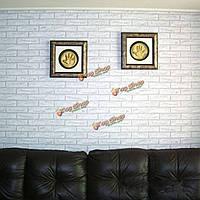 10м белый серый кирпич камень prepasted клей контакт бумажные обои ролл стены искусства декора