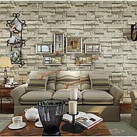 10м 3D кирпич камень натуральный цвет шифера нетканый декор обоев дома стены окружающей среды