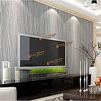 10м нетканый Colth рулон обоев цветом нерегулярные полосы фланель домашнего декора стены