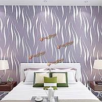 10м 3D полумесяца волн полосы тиснением нетканый стекаются обои современный декор дома стены