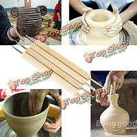4шт стилус полимерной глины гончарной керамики лепки инструменты моделирования