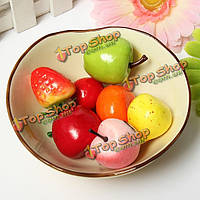 Искусственная груша яблоко пластиковые фрукты домашней вечеринки декор
