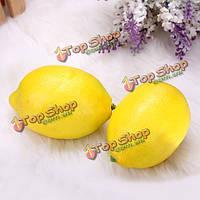 5шт искусственное подражание лимона поддельные обучения фрукты украшения дома реквизит