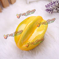 10шт искусственной карамбола формы растительного фрукты украшение обучения реквизит
