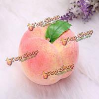 5шт искусственных поддельные персик плесени фрукты овощи преподавания плесени интерьера реквизиты