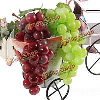 Искусственный виноград гроздь с листьями муляж