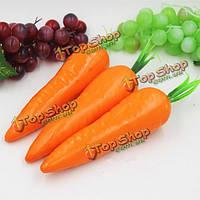 Поддельные модели фрукты красного искусственного морковь кухонный шкаф декор обучения фотографии реквизит